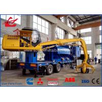 Buy cheap Mobile Hydraulic Waste Metal Baler Logger 5 meter press room size product
