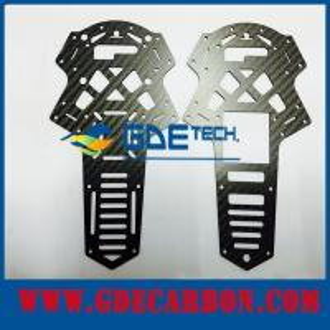 Quadro 1mm 1.5mm 2mm do zangão da fibra do carbono do CNC 3mm 4mm 5mm 6mm
