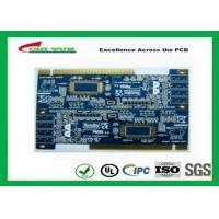 Buy cheap 2 Layer PCB Board Immersion gold + plating gold fingers Blue solder mask product