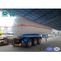 Buy cheap White Carbon Steel Safety Lpg Transport Trailer With Air Spring Suspension product