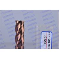 Buy cheap Long Shank 4 Flute Solid Carbide Corner Radius End Mill With SiN Coating product
