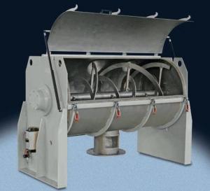 Buy cheap Food Mixing Tanks Horizontal Powder Ribbon Mixer , Liquid Powder Mixing Equipment product