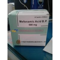 Quality 250mg / 500mg Mefenamic Acid Capsules Green And Yellow Anti Inflammatory Analgesic Agents for sale