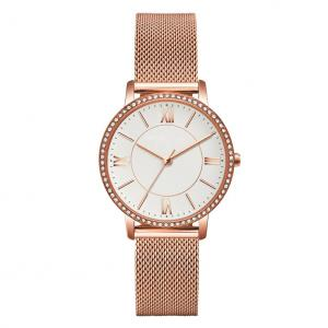 Buy cheap ODM OEM Logo Womens Fashion Watch Mesh Band IP Rose Gold Color product