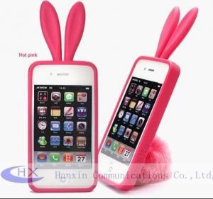 Buy cheap Caisses en caoutchouc de peau d'Apple iPhone 4 mobile du lapin TPU d'OEM pour des téléphones portables product