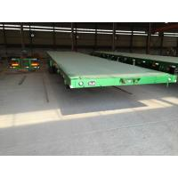 Buy cheap three or two axles bpw brand flatbed container trailer with one tool box product