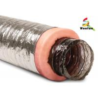 China Air conditioning Fire Resistant Insulated Aluminum Flexible Ducting , Insulated Vent Ducting wholesale