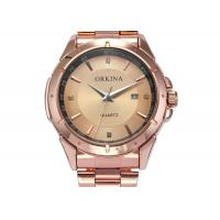Buy cheap ORKINA Stainless Steel Quartz Analog Watch Wristwatch , Gold Dial Watch product
