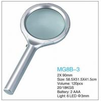 China Dome Handheld LED Pocket Magnifying Glass 2x Power Eco Friendly Plastic on sale