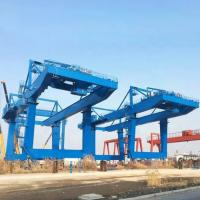 Buy cheap Tower Fixed Mobile Container Crane Electric Hoist Port Shipyard Outdoor Long Span product