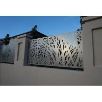 Buy cheap Architectural Metal Aluminum Decorative Laser Cut Fencing Panels or steel panels from wholesalers