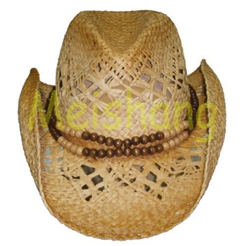 Quality Raffia Cowboy Hat for sale