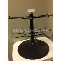 China Black 2 - Tier Spinner Rack Display Stand 16 Hooks Swivel Display Rack For Products on sale