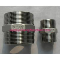 China Stainless Steel NPT BSP Two Sides Male Thread Connector For Fountain Frame DN15 - DN200 Pipe Nipple wholesale