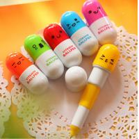 Buy cheap Pill Shaped Vitamin Ballpen Promotional Stationery With Smile Face product