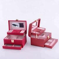 China Flannel Interior Travel Size Jewelry Box , Soft Lining Jewelry Carrying Case on sale
