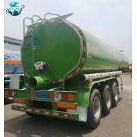 Buy cheap High quality 3 axle 40t Stainless Steel Oil Mud Vacuum Suction tanker semi trailer for sale product