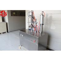 Buy cheap Refrigerant Freon Under Cap Vacuum Semi Automatic Aerosol Filling Machine For R134a / R410a / R22 product