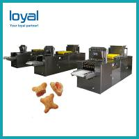 China Automatic small scale biscuit machine soft waffle production line on sale