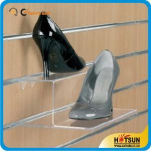 Buy cheap Los zapatos de acrílico de la fabricación de encargo de alta calidad atormentan, estante de acrílico transparente popular del soporte de exhibición del zapato product