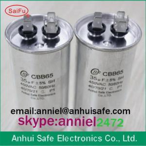 Buy cheap old brand CBB65 oil polypropylene film filling 25uf 10uf 15uf 20uf high quality cbb65 product