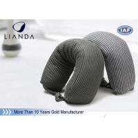 China Gray Microbeads Car Neck Rest Pillow With Lycra Cover , 100% Polyester Materials wholesale