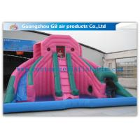 Buy cheap Custom Pink Double Inflatable Water Slides For Toddlers Plays With Pool product