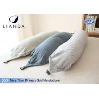 China U Shape Memory Foam Pillows / Travel Microbead Neck Pillow With Lycra Cover wholesale