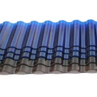 Buy cheap Tinted Corrugated Plastic Sheets, Solar Polycarbonate Corrugated Roof Panel from wholesalers