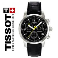 Buy cheap Male Leather Quartz Analog Watch Tissot , Round Branded Wristwatch product