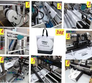 Buy cheap LCD 超音波 PP の 不織布 の布のハンドル/キャリア/ジッパー袋の製造業機械 product