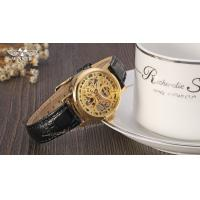Buy cheap Winner Handwinner Womens wrist Watches With gold Dial Black band product