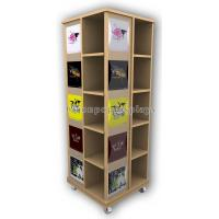 China Wooden Floor Rotating Clothing Shop Display Cabinets For Garment Retail Stores wholesale