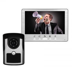"""Buy cheap 7"""" atado con alambre el intercomunicador IR uno del teléfono de la puerta del vídeo de color de la visión nocturna del LCD con un timbre con desbloquea la función product"""