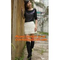 China beach Crochet Skirt, crocheted skirt, hand crocheted, beautiful pattern, fit for ladies on sale