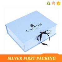Buy cheap Silver First custom decorative book shaped paper storage design gift boxes  with magnetic closure product