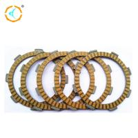 Buy cheap Yellow Motorcycle Clutch Parts / Rubber Clutch Friction Plate For CG125 product