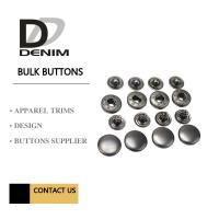 Buy cheap Anti Black Silver Clothing Snap Buttons , Bulk Replacement Snap Buttons Custom product