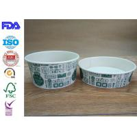 Buy cheap Disposable Food Grade Paper Salad Bowls For BBQ With FDA Certification product