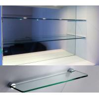 Buy cheap Bathroom accessory toughened polished glass Clear tempered glass for commodity shelf product