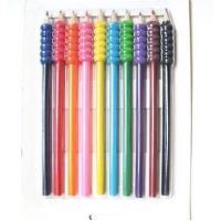 China 10pcs jumbo colored pencils with grips on sale