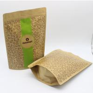 China Resealable kraft paper zipper bags brown kraft paper bags paper pouch with custom logo on sale