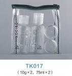 Buy cheap Empty PET 4 pack cosmetics travel bottle set product