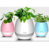 China ABS material Smart Touch Plant Piano Music LED Flower Pots Wireless Bluetooth wholesale