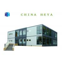 Anti Wind Double Storey Prefab Houses Container Dormitory For Students / Workers