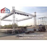 Quality Light Duty Stage Light Truss , Spigot Overhead Square Truss System 400 X 60mm Size for sale