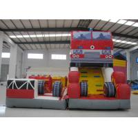 Buy cheap Fire Fighting Fun City Commercial Bounce House , High Slide Big Blow Up Bounce House product