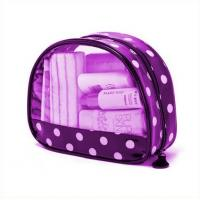Buy cheap Printed Transparent Waterproof Purple Pvc Makeup Bags For Travelers from wholesalers