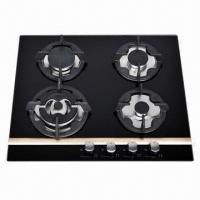 China Glass Gas Stove, Built-in Hob with 5 Burners  on sale