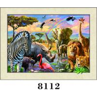 Buy cheap Colorful Animals 3D lenticular  Painting 5D Images With PET 0.6MM+157g Coated Paper Material for Home Decoration from wholesalers